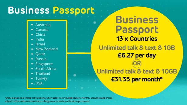 EE Roaming Business Passport
